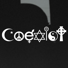 Coexist Tolerance Peace Together Freedom Bumper Decal Sticker Vinyl Window Car