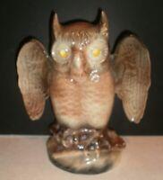 Vintage Kron Owl TV Lamp 1960s Howard Kron Mid Century Man Cave Cabin Rustic