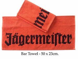 Jägermeister Bar Runner, Jacquard Terry Bar Towel,100%Cotton 50x23cm