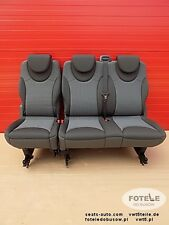 Seat rear bench triple Peugeot Expert Fiat Scudo Jumpy Dispatch 2nd or 3rd row