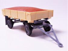 H0 Modelltec Anhänger Hänger Pritsche Ladegut Sand beige rotbraun grau DDR NEU