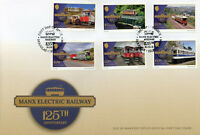 Isle of Man IOM 2018 FDC Electric Railway 6v Cover Europa Bridges Trains Stamps