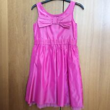 Girls pink party dress age 7-8 years