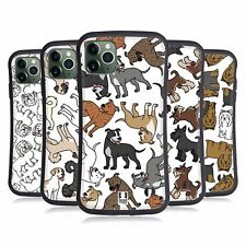 HEAD CASE DOG BREED PATTERNS 11 HYBRID CASE & WALLPAPER FOR APPLE iPHONES PHONES