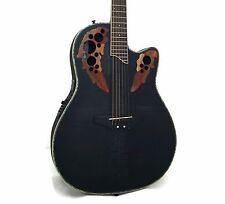 Ovation Celebrity Deluxe CC48-TBBY Super Shallow Acoustic-Electric Guitar + Case