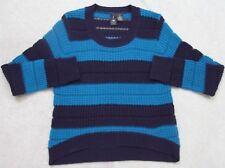 Sweater Woman's Acrylic Long Sleeve XL Extra Large Crewneck Blue Boy Meets Girl