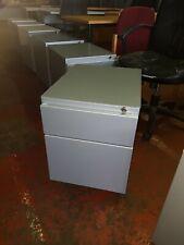 STEELCASE Two Draw Under Desk Pedestal in grey