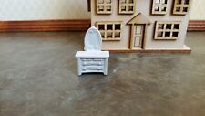 Dollhouse Miniature Unfinished Metal 144th Scale 2 Girl w// basket
