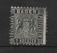 BADEN 1862 1k Black P10 USED