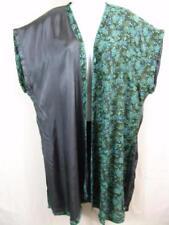DU12 TIENDA HO~Gray & Turquoise~FANNAN~duster~MINIMALIST~rayon~BOHO~OS M L XL 1X