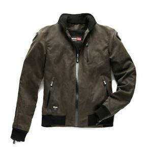 Blauer Indirect Waxed Cotton Brown Motorcycle Jacket RRP £369 *FREE UK DELIVERY*