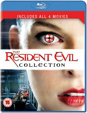 RESIDENT EVIL COLLECTION 1-4 Quadrilogy Movies Boxset (NEW BLU-RAY)