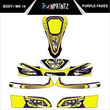 MK 14 PURPLE FADES FULL KART STICKER KIT - KARTING - OTK - EVK-CADET-ROOKIE