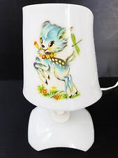 ADORABLE LAMPE CHEVET ENFANT PLEXIGLAS BLANC 1970 VINTAGE SPACE AGE ANNEES 70