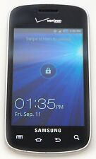 Samsung i110 Illusion Pre Paid Verizon Silver Touchscreen Cell Phone Bluetooth B