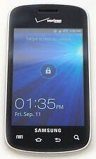 Samsung i110 Illusion Pre Paid Verizon Silver Touchscreen Cell Phone Bluetooth B