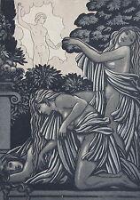"""BECQUE M. DE """"le reveil d'UN dieu"""" dans la Grece et la Sicile, gravure dimension"""