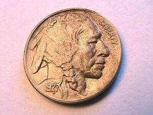 1927-D Buffalo Nickel Ch BU Unc Nice Original Lite Tone Indian Head 5 Cent Coin