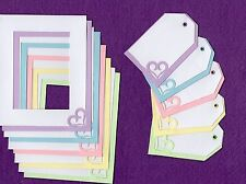 Frames and Tags with hearts scrapbooking paper piecing scrapbook cards