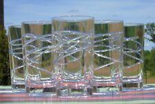 Service de 6 verres à orangeade en cristal d'Arques, modèle Lace