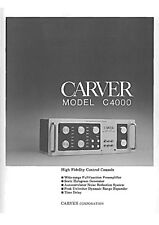 Carver C-4000 Control Console Owners Manual