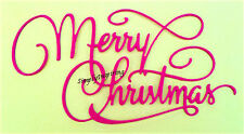 NEW ✿ Large Merry Christmas Script Word Die ✿ For Cuttlebug & Sizzix ✿
