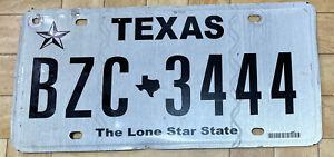 Texas USA Nummernschild Kennzeichen USA Texas Licence Plate BZC3444