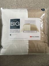 New! The Big One Full/Queen Taupe & Ivory Reversible Down Alternative Comforter