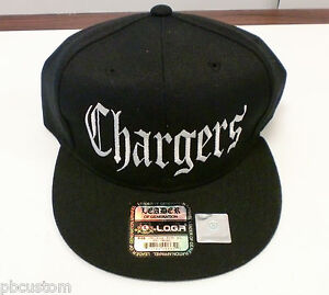 CHARGERS SNAP BACK HAT- BLACK w/ White