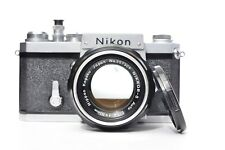 Nikon F 35mm SLR Film Camera with AI'D Nikkor-S 50mm 1.4 Lens - NO FINDER