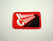 2 Vtg Hummin Cummins Engines Cloth Patch New NOS 1970s Diesel Truck Orange Black