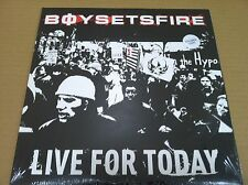 BOYSETSFIRE  Live for today UNRELEASED & LIVE 10 INCH Vinyl SEALED Boy Sets fire