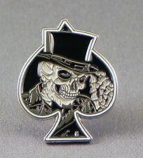 Skull Ace pin badge. Ace of spades. Bikers badge. Lapel badge.