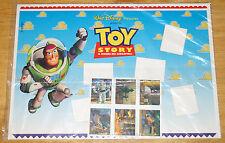 Walt Disney TOY STORY - tavola con francobolli in tiratura limitata 1995 nuova
