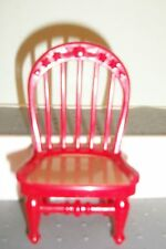 FISHER PRICE Loving Family Dollhouse RED COUNTRY KITCHEN CHAIR TAN