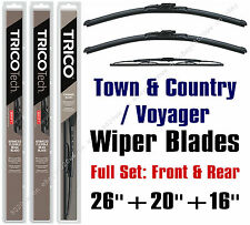 "Chrysler Town & Country 2010+ Wiper Blades 3-Pack 26""+20""+16"" 19260/19200/30160"