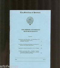 OMRS Miscellany of Honours # 4  Orders & Medals Research Society  UK MEDAL MAGZ