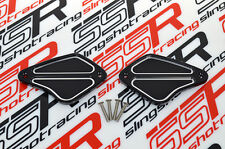 Black Ducati Diavel Cromo Carbon Amg Billet Front Brake & Clutch Reservoir Caps