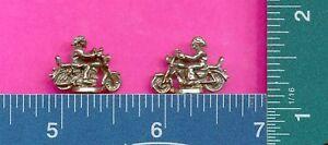 100 wholesale lead free pewter biker figurines m11118
