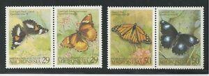 MICRONESIA #182-183 a & b MNH BUTTERFLIES (2 Pairs)