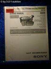 Sony Service Manual DCR TRV255E /TRV260 /TRV265 /TRV265E Level 1 (#4817)