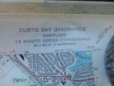2 Maps Geological Surveys Curtis Bay & Daidsonville Quadrangle Dept of Interior