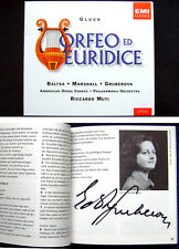 Edita GRUBEROVA Signiert GLUCK: ORFEO ED EURIDICE Agnes BALTSA MARSHALL MUTI 2CD