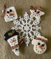 ~*SnOw PiNs*~ PATTERN Winter/Christmas/Snowman wool/wool felt PATTERN