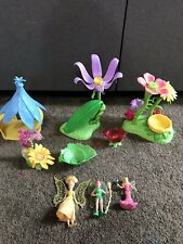 "Disney Tinkerbell Playset land toy with dolls 3-1/2"" dolls"