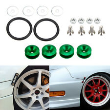 Green Quick Release Bumper Fender Car Hatch Trunk Loop Ring Fastener Nuts Bolt
