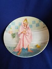 """8.5"""" Reco Knowles Plate """"Tub Time"""" by John McClelland 1986"""
