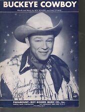 Buckeye Cowboy 1952 Roy Rogers Sheet Music