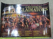 (1) 2001 UNIVERSITY OF WISCONSIN BADGERS FOOTBALL TEAM SENIOR POSTER