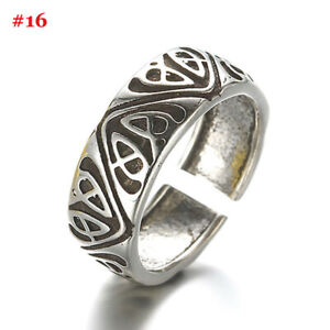 Womens 925 Silver Rings Adjustable Open Thumb Wedding Engagement Xmas Gifts UK